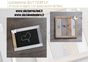 Bomboniera orologio farfalla