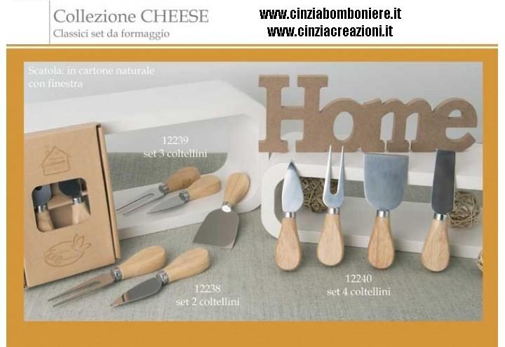 coltelli set formaggio bomboniera
