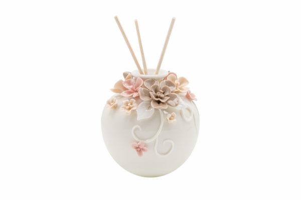 profumatore ceramica fiori