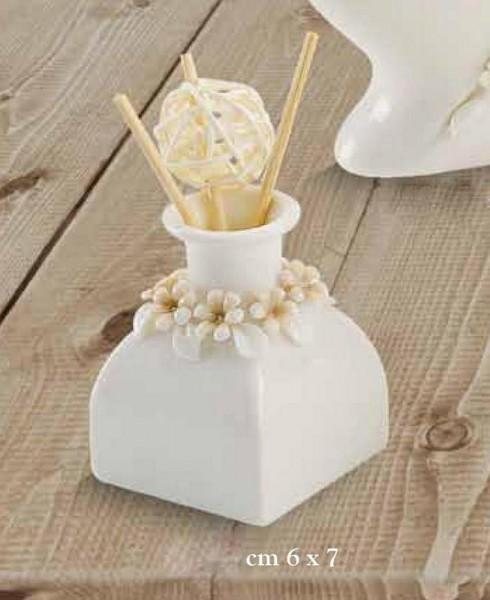 profumatore porcellana fiori