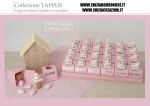 portaconfetti battesimo rosa