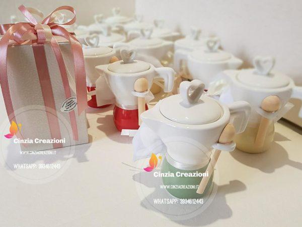 Bomboniera caffettiera zuccheriera
