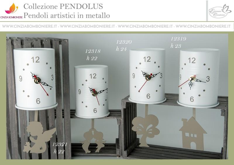 Pendolo orologio bomboniera