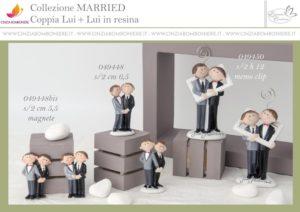 Sposi gay matrimonio civile bomboniera