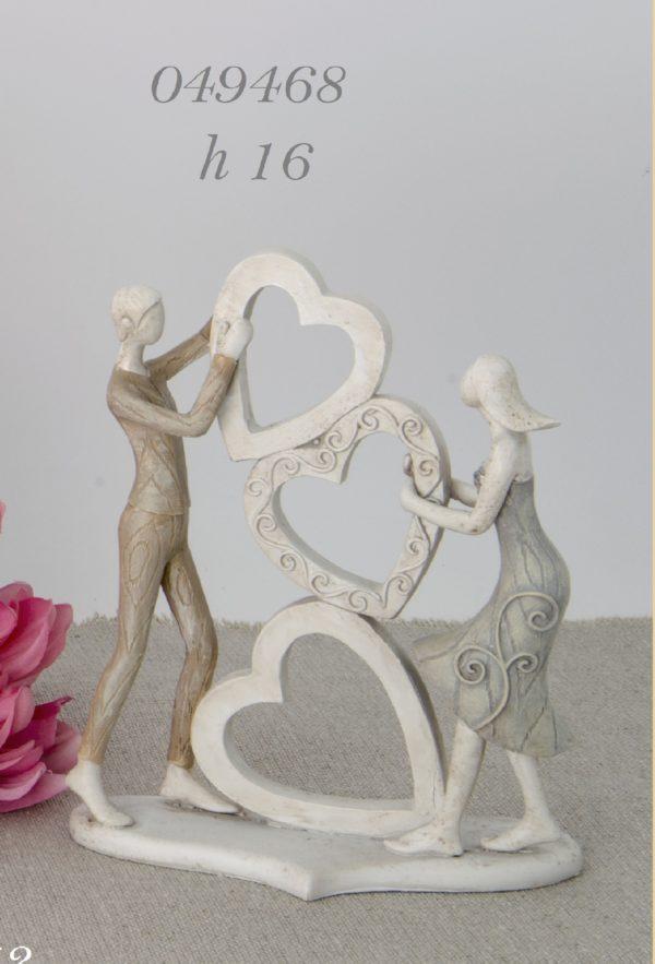 Statuina sposi Cuori