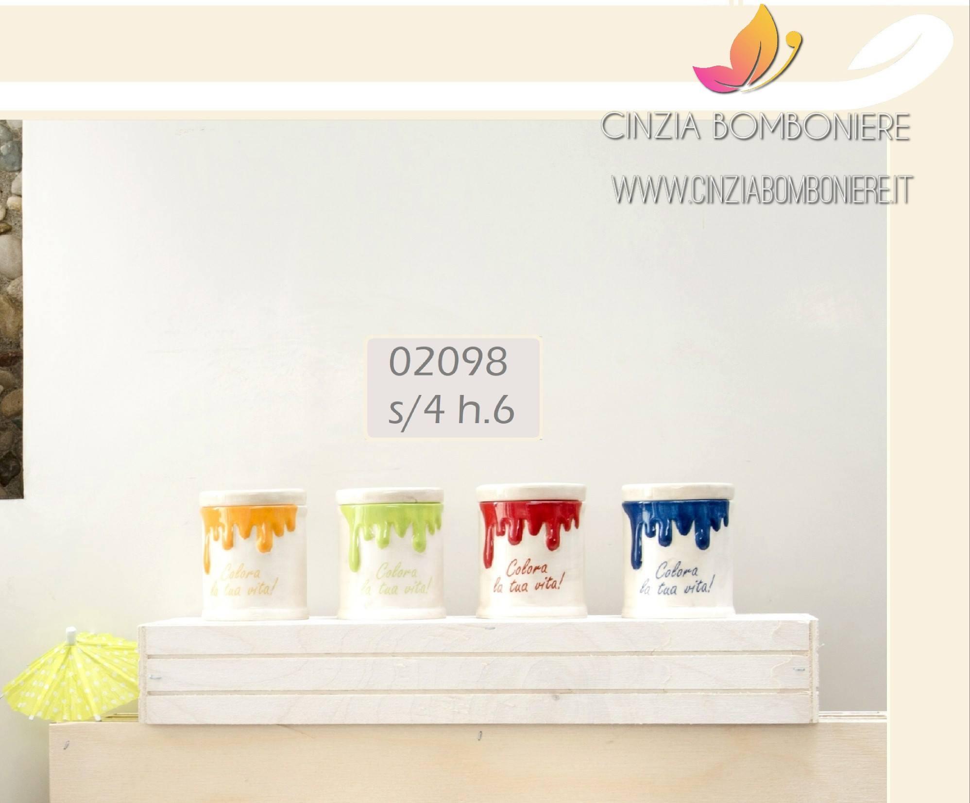 Barattoli ermetici colorati piccoli cb02098 cinzia - Barattoli cucina colorati ...