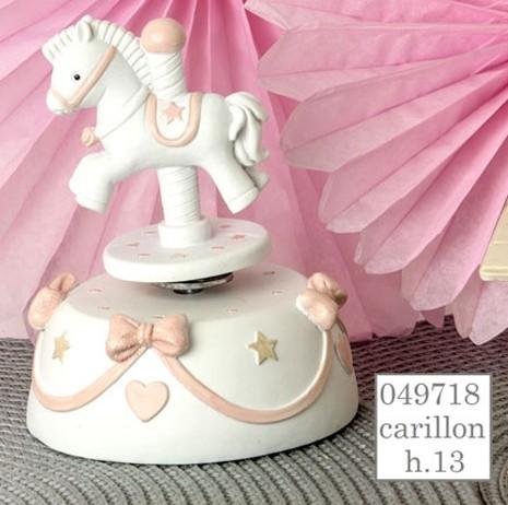 Carillon cavallino rosa 049718