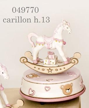 Carillon cavallo a dondolo rosa 049770