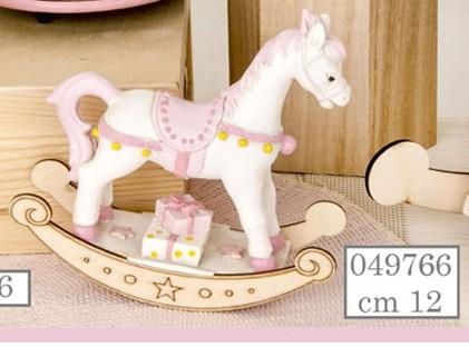 Cavallino a dondolo rosa 049766