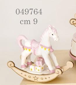 Cavallo a dondolo rosa 049764
