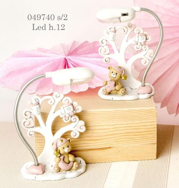 Lampada albero della vita orsetto rosa 049740