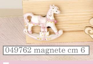 Magnete cavallo a dondolo rosa 049762
