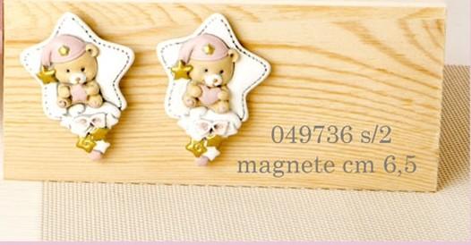 Magnete orsacchiotto rosa 049736