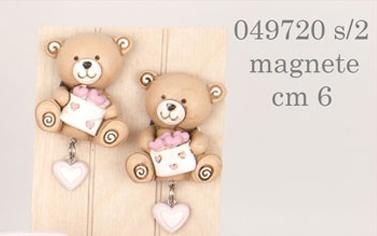 Magnete orsetti rosa 049720
