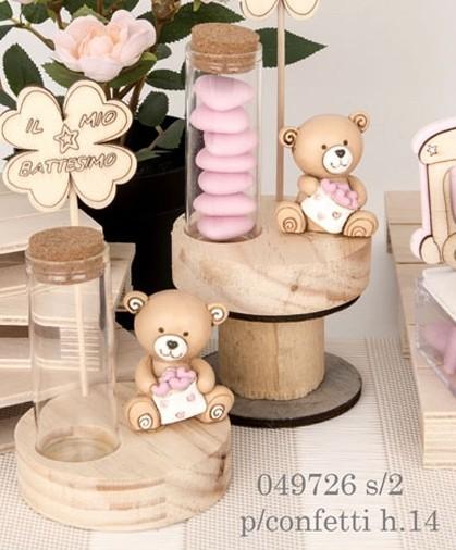 Provetta orsacchiotto rosa 049726