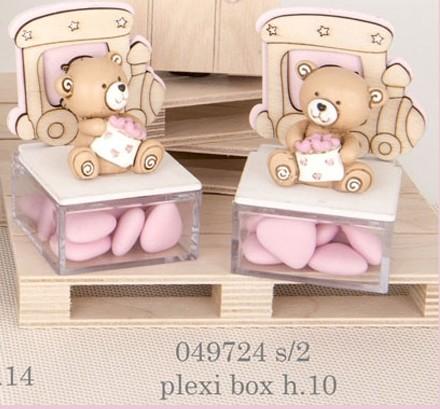 Scatolina orsacchiotto rosa 049724
