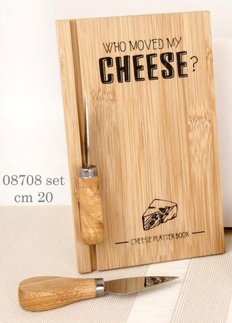 Tagliere in legno per formaggio 08708