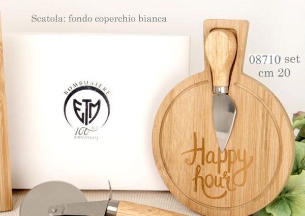 Tagliere in legno per formaggio tondo 08710