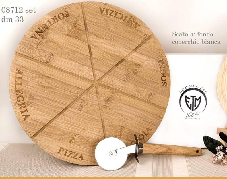 Tagliere in legno per pizza 08712