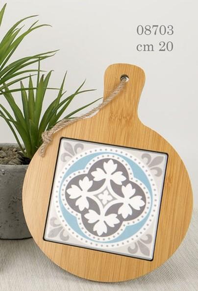 Tagliere tondo in legno 08703