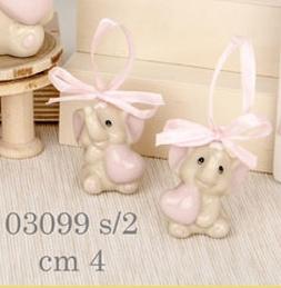 elefantini cuore rosa 03099
