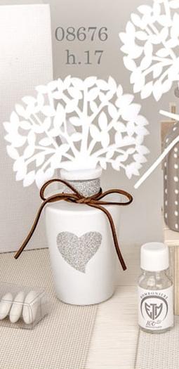 profumatore albero cuore bianco 08676