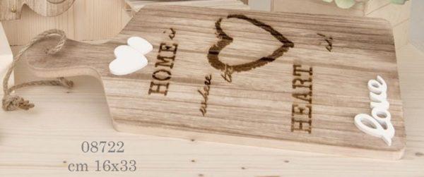 tagliere in legno tema cuore 08722