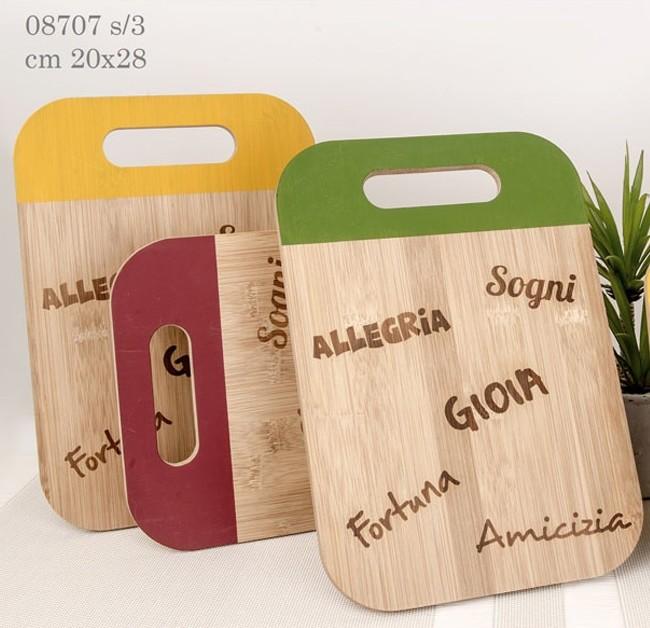 taglieri in legno color 08707