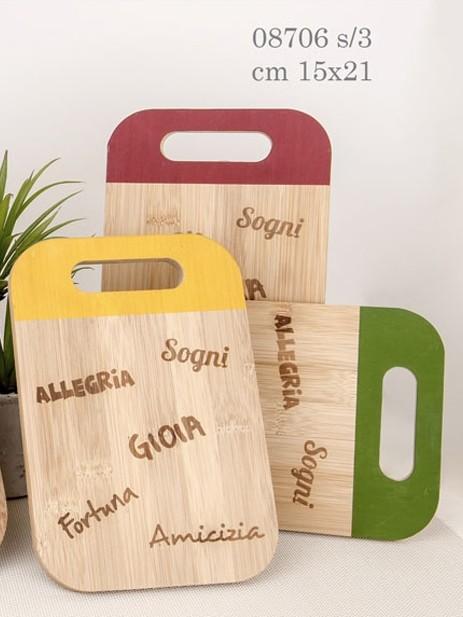 taglieri in legno colorati 08706