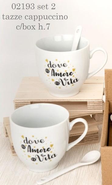 tazze cappuccino con scritta 02193