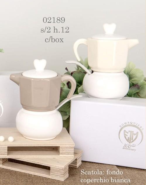 zuccheriera a forma di caffettiera 02189
