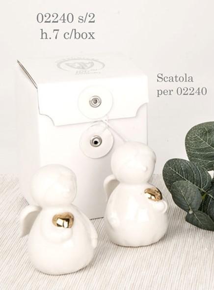 Angioletto porcellana tema cuore 02240