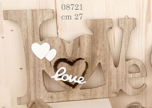 Appendino in legno cuore 08721