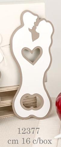 Apri bottiglia sposini bacio cuore 12377
