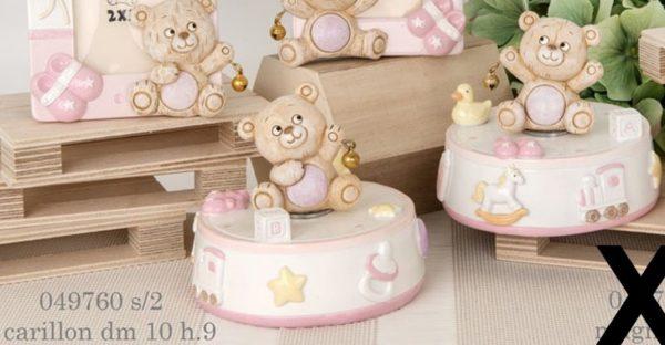 Carillon orsacchiotto rosa 049760