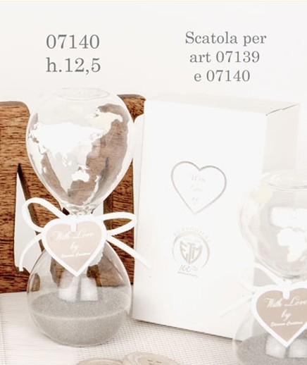 Clessidra vetro con cuore 07140