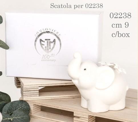 Elefantino tema fiori 02238