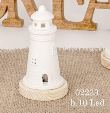 Faro led in porcellana 02233