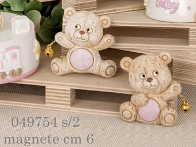 Magnete orso rosa 049754