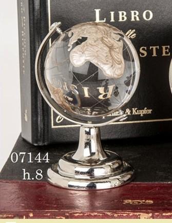 Mappamondo vetro cristallino 07144
