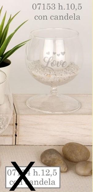 Porta candela vetro 07153