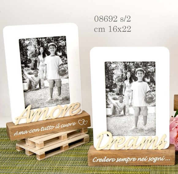 Porta foto legno amore 08692