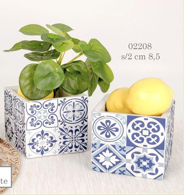Porta piante terracotta tema Amalfi 02208