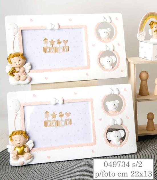 Portafoto angioletti baby rosa 049734