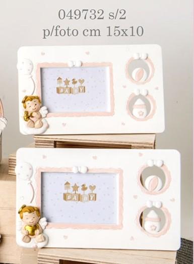 Portafoto angioletti rosa 049732