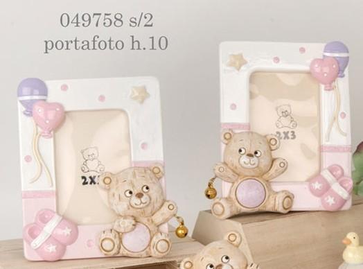 Portafoto orsacchiotto rosa 049758