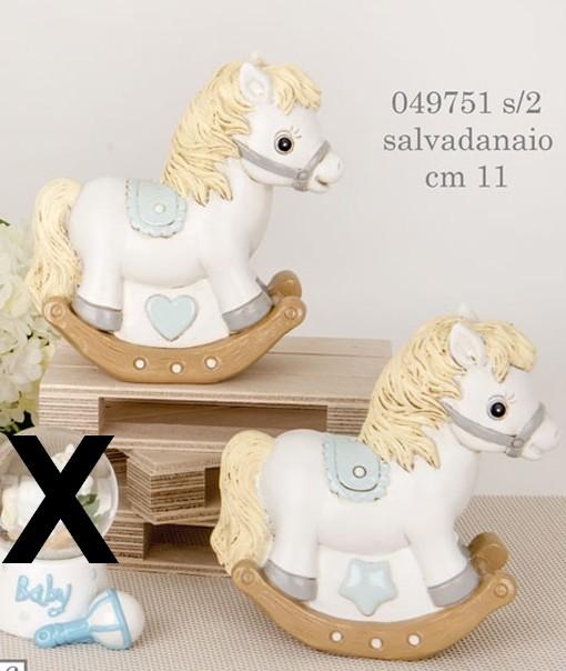 Salvadanaio cavallo a dondolo 049751